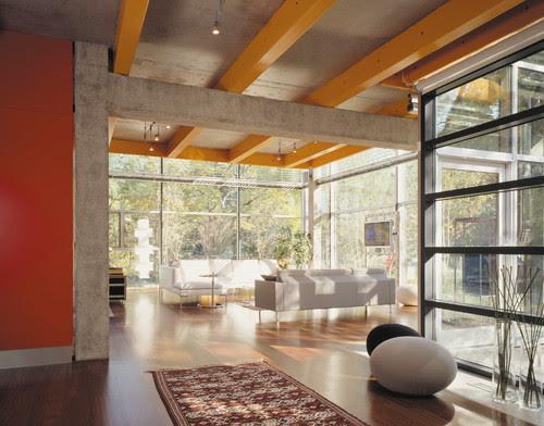 painted steel beams modern contemporary interior design