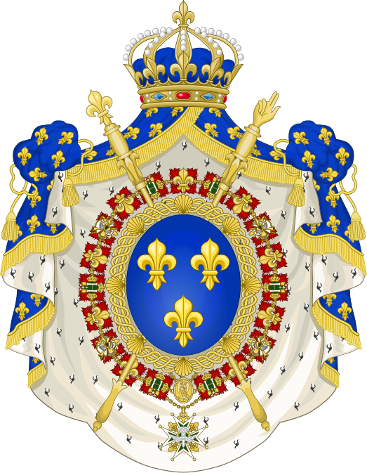 File:Coat of Arms of the Bourbon Restoration (1815-30).svg