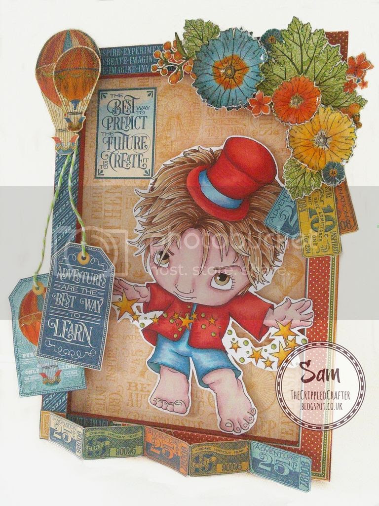 That Craft Place MDF Frames with TCP Digis and Graphic 45 papers - by The Crippled Crafter