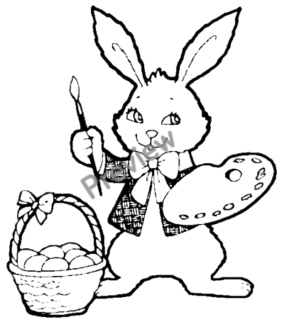 7 best images of different printable easter bunnies  easter bunnies coloring pages printable