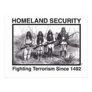 Original Native American Homeland Security T-Shirt Postcard
