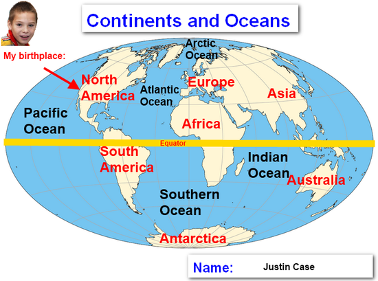 world map continents labeled. Free Printable World Map