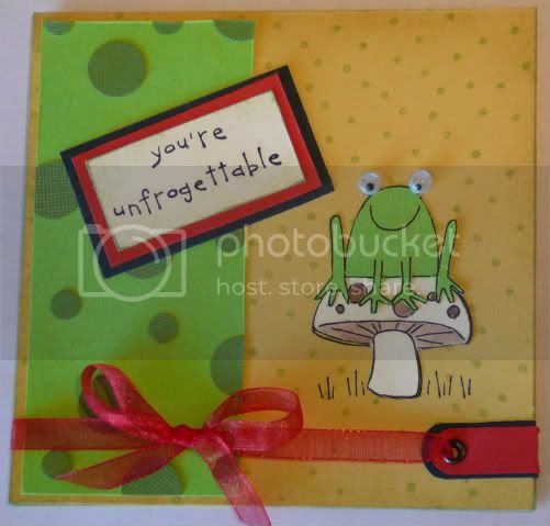 Unfroggetable card, using Stampin Up