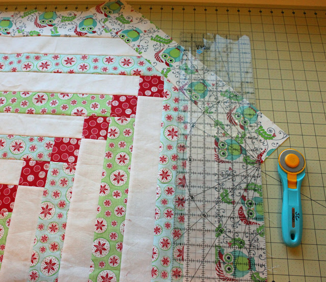 corner border trim ruler placed