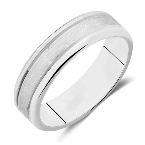 mens wedding band  ct white gold