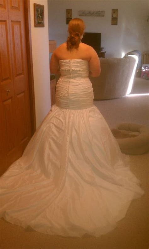 My custom made wedding dress from china is here