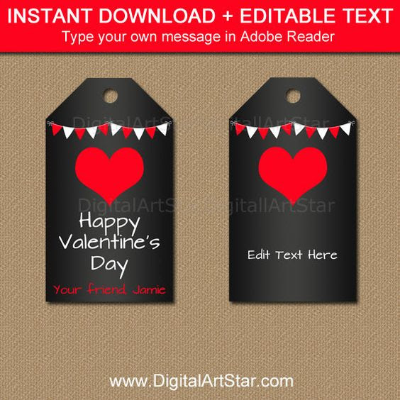 Valentines Day Tags, Valentine