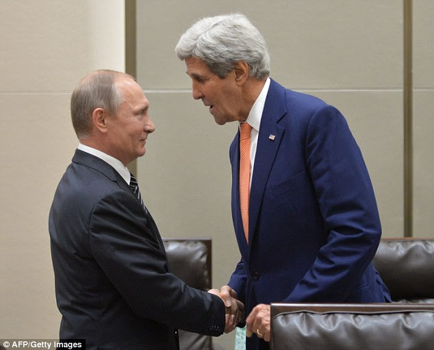 Summit: Putin also met Secretary of State John Kerry on the sidelines of the G20