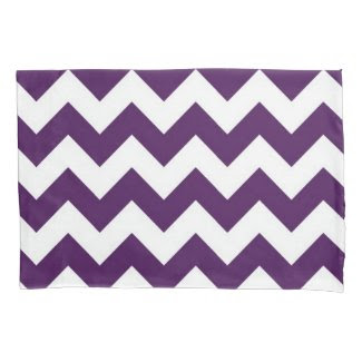Purple and White Zigzag Pattern