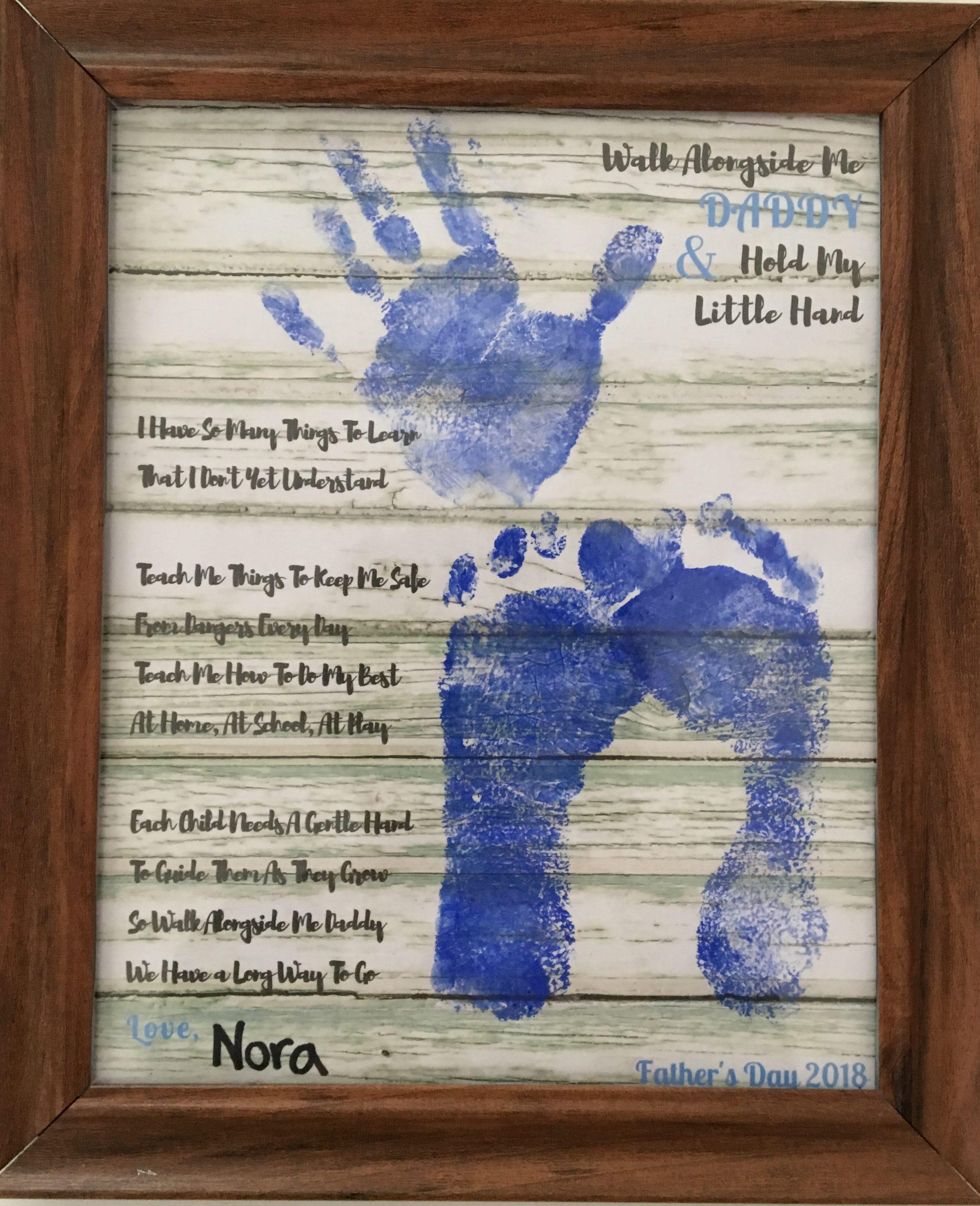 Fathers Day Gift Idea Walk Alongside Me Keepsake Poem A Good