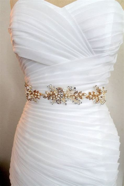Gold or Rose gold Leaf Vine Wedding Dress Belt. Boho