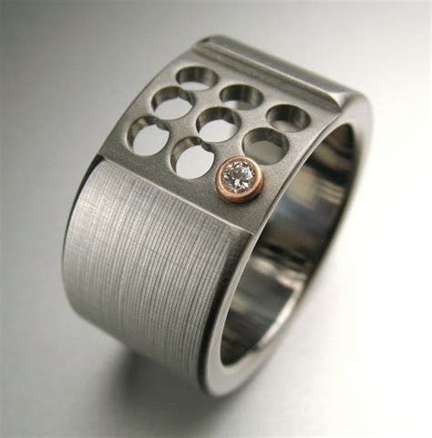 Titanium Rose Gold Diamond Ring   Pinterest   Be cool