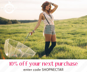 Get 10% off your purchase at Nectar Clothing. Enter code SHOPNECTAR