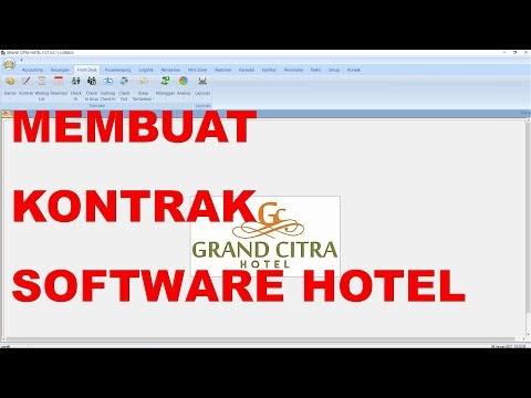 Cara Membuat Kontrak Baru di Software Hotel
