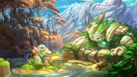 Download 3840x2160 Fantasy Landscape, Creatures, Golems