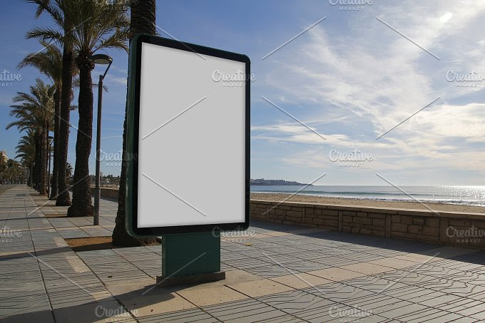 Blank billboard mock up ~ Business Photos on Creative Market