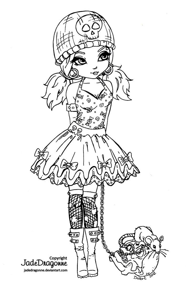 Gothic Fairy Coloring Pages Printable at GetColorings.com ...