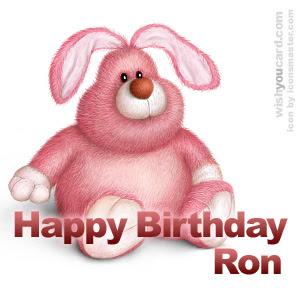 Happy Birthday Ron Cards
