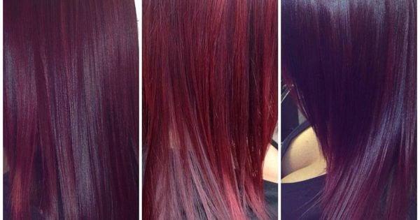Blau dunklem haar auf elumen Elumen Rot