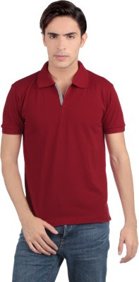 Buy Status Quo Solid Men's Polo Neck T-Shirt: T-Shirt