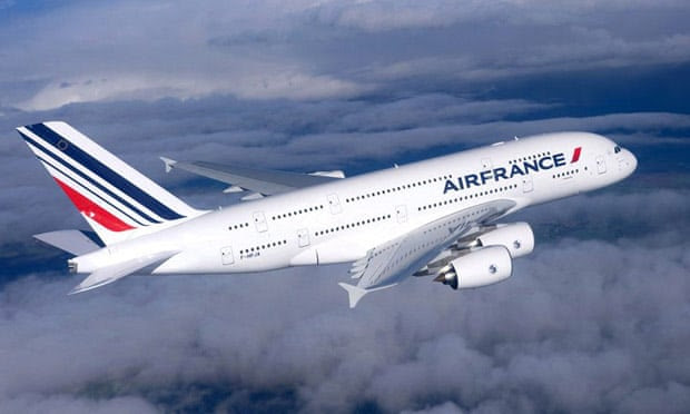 An Air France Airbus A380.