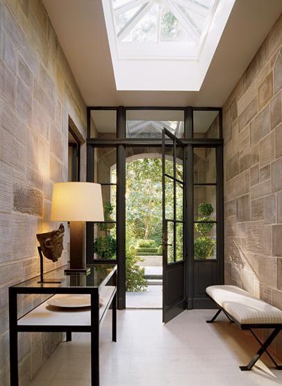 Foyer Skylight - Contemporary - entrance/