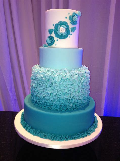 Ombre, metallic, tall towers: wedding cake trends this year