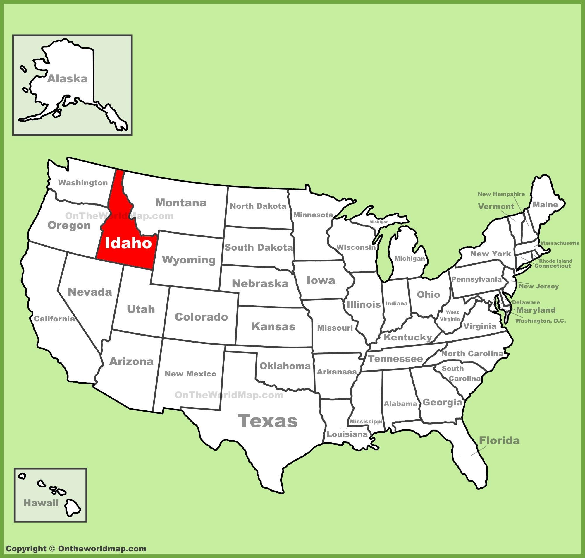 Us Map Of Idaho Zip Code Map: Map Of Usa Idaho