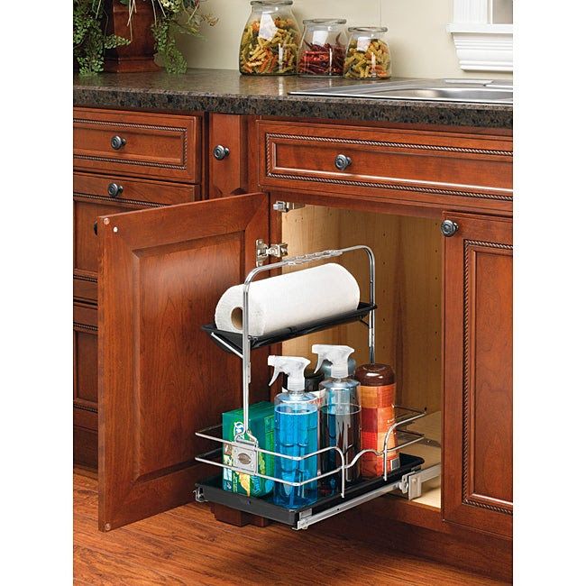 Rev-A-Shelf 544-10C-1 Chrome Cleaning Caddy - Overstock ...