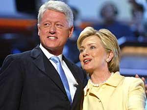 Hillary Rodham Clinton og Bill Clinton