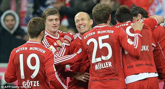 Champions: Bayern managed 50 games unbeaten on Saturday as they beat Bayer Leverkusen 2-1
