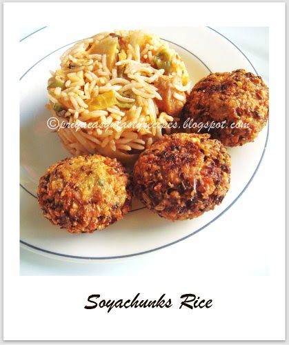 Soyachunks Rice