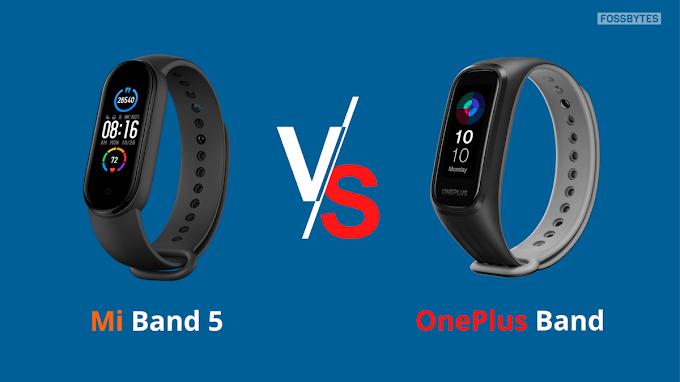 OnePlus Band vs Xiaomi Mi Band 5: comparação de especificações de bandas de fitness