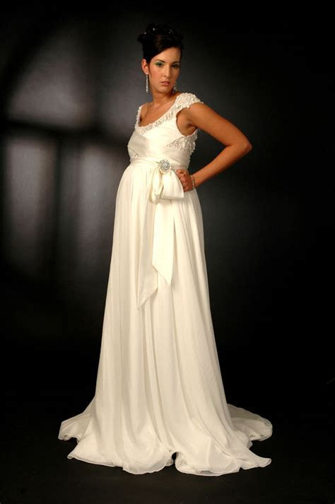 Maternity White Wedding Dress Designs Idea