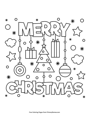 72 Christmas Coloring Pages Pdf Printable Download Free Images