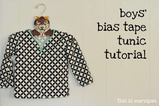 boy's bias tape tunic tutorial.