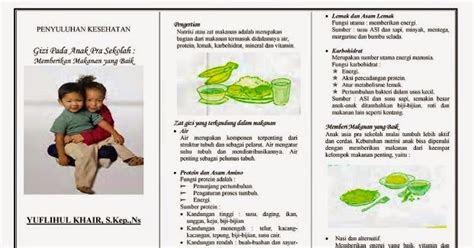 leaflet gizi  anak usia pra sekolah ebooks yuflihul