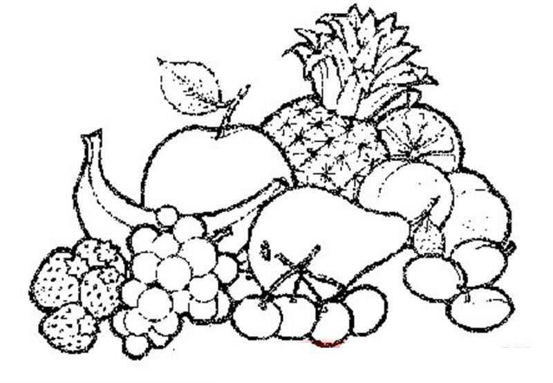 Meyveler Boyama Sayfasi 1 Okul öncesi Etkinlik Faliyetleri