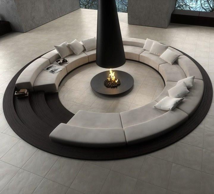 Conversation Pits & Sunken Sitting Areas