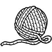 ball of yarn coloring page - Clip Art Library