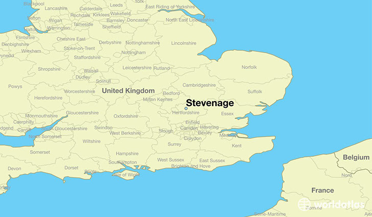 77986 stevenage locator map