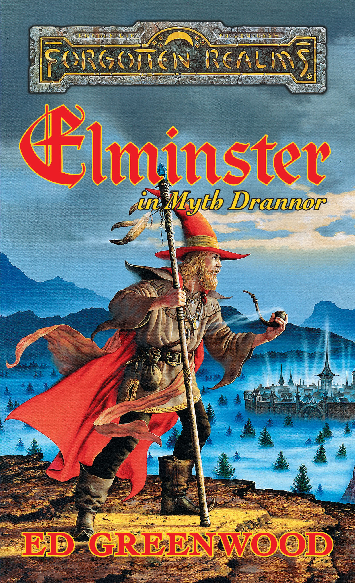 Portada del libro Elminster en Myth Drannor, de Ed Greenwood
