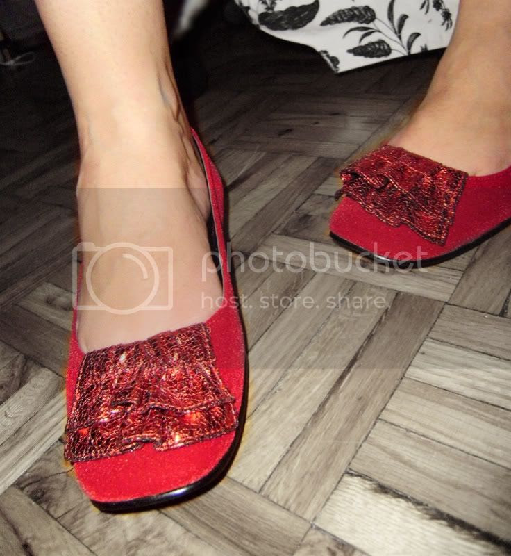 red shoes - on blog