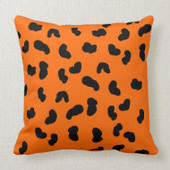 Orange and Black Animal Print Pillow throwpillow