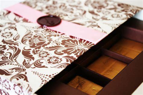 Mikayla's blog: Chocolate Gift Box Wedding Invitation