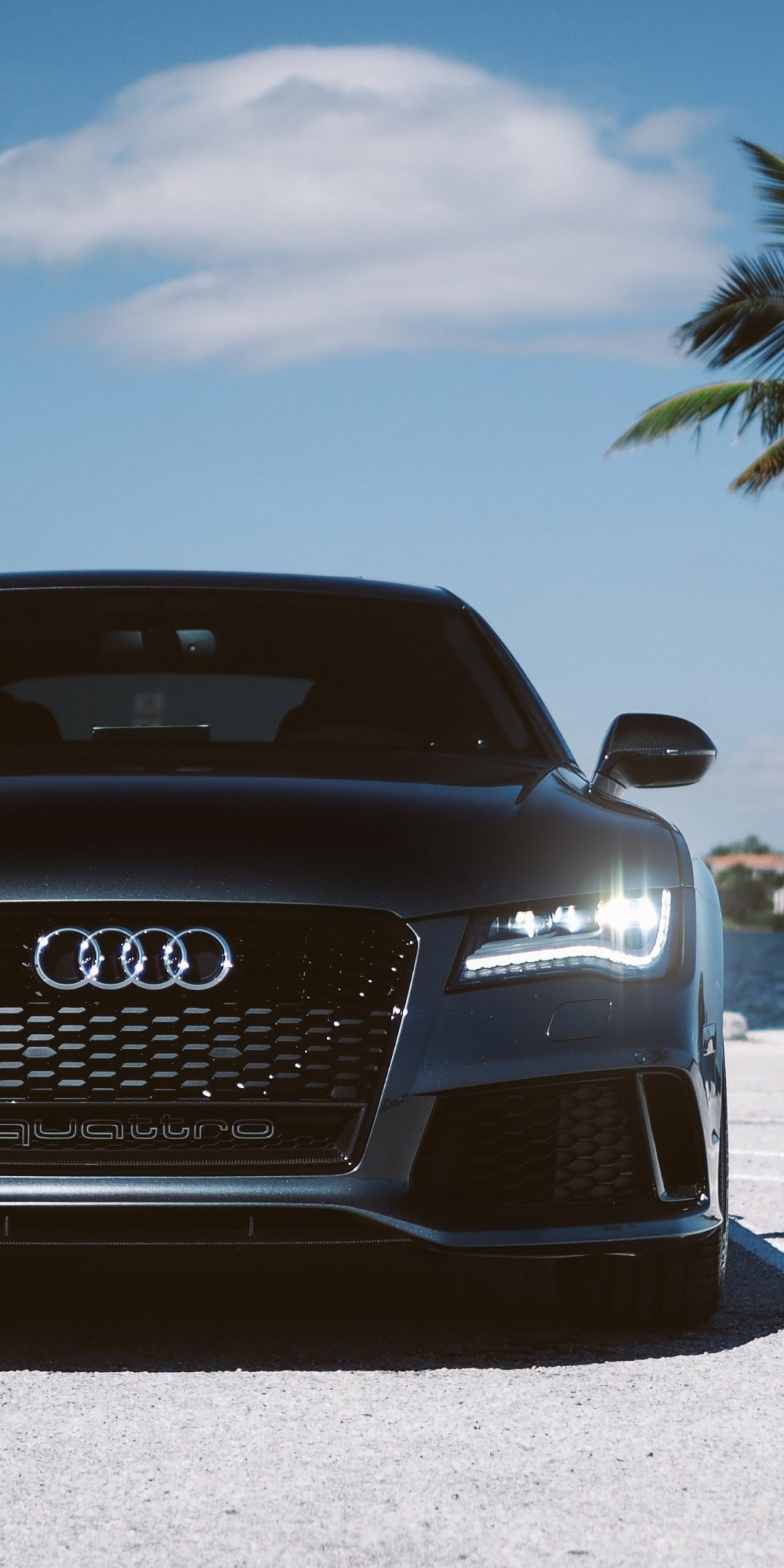 Download 1080x2160 Audi Rs7, Black, Front View, Luxury ...