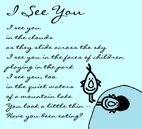 I See You Funny Thinking Of You Poem Free Thinking Of You Ecards