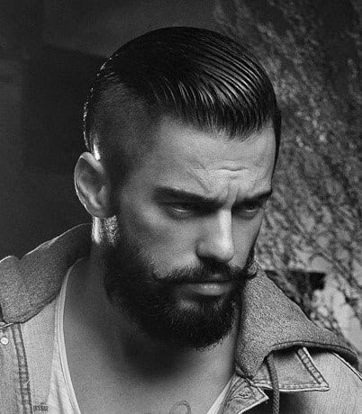 Mens Shaved Side Long Top Hairstyle The Look For Less