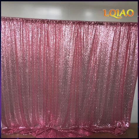 10x10FT Pink Gold/Champagne Sequin Fabric Backdrop Wedding
