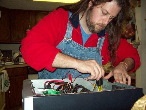 DIYer at work
